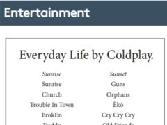 Coldplay have revealed the tracklist for their upcoming album using a classified advert in a local newspaper (Daily Post and Dominic Lipinski/PA)