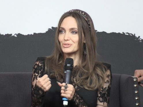 Angelina Jolie speaks at a press conference in London promoting Maleficent: Mistress of Evil (PA)