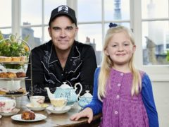 Clara Ross and Robbie Williams (Channel 4/PA)
