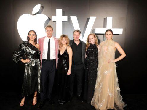 Stars of Apple TV+ drama For All Mankind, including Jodi Balfour, Joel Kinnaman, Sarah Jones, Michael Dorman, Wrenn Schmidt, Shantel VanSanten (Apple/PA)