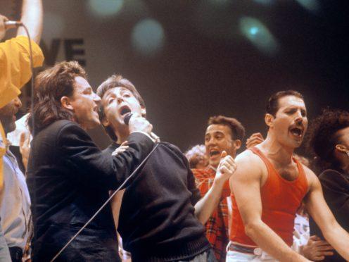 Bono, Paul McCartney and Freddie Mercury were among the stars at Live Aid (PA)