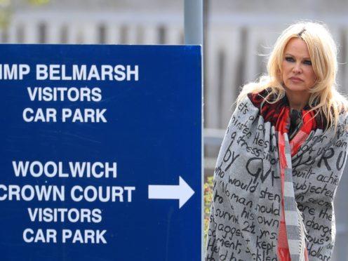 Pamela Anderson leaves Belmarsh Prison (Gareth Fuller/PA)