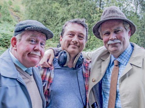 Still Game stars and creators Ford Kiernan (left) and Greg Hemphill (right) and director Michael Hines (Bafta Scotland/PA)