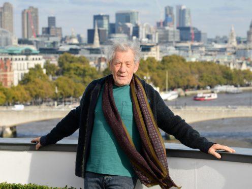 Ian McKellen will next be seen starring opposite Dame Helen Mirren in The Good Liar (Ian West/PA)