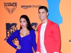 Georgina Rodriguez and Cristiano Ronaldo attending the MTV Europe Music Awards 2019 (Ian West/PA)
