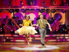 Alex Scott and Neil Jones on Strictly (Guy Levy/BBC)