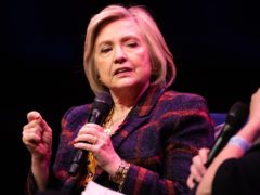 Hillary Clinton talking to Mary Beard at the Southbank Centre (Aaron Chown/PA)