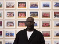 Steve McQueen with Year Three at Tate Britain (Jessica McDermott/PA)