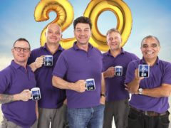 The DIY SOS team celebrate 20 years of the home renovation show (BBC/PA)