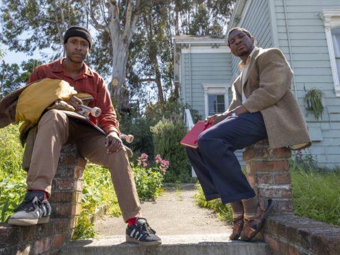 Jimmie Fails stars as Jimmie Fails and Jonathan Majors as Montgomery Allen (David Moir / A24)