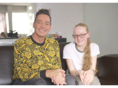 Craig Revel Horwood with young fan Neve. (Guide Dogs/PA)