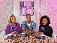 Calum Best with Kaz Crossley and Mel B on The Truth Flirts podcast (Badoo)