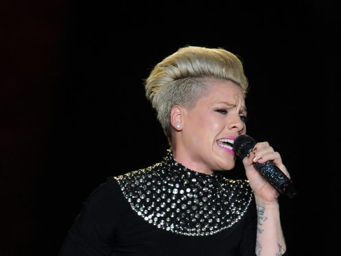 Pink performs on stage at the LG Arena, Birmingham (Joe Giddens/PA)