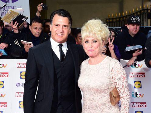 Dame Barbara Windsor and husband Scott Mitchell (Ian West/PA)
