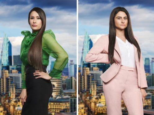 The Apprentice finalists Scarlett Allen-Horton (left) and Carina Lepore (BBC/PA)