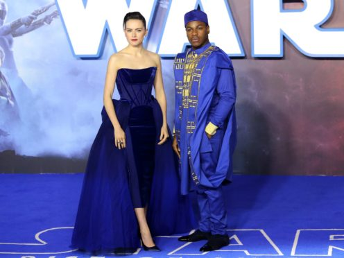 Daisy Ridley and John Boyega at the premiere (Isabel Infantes/PA)