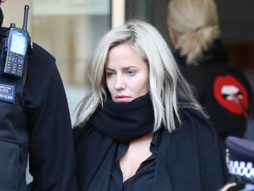 Caroline Flack leaves Highbury Corner Magistrates' Court (Jonathan Brady/PA)