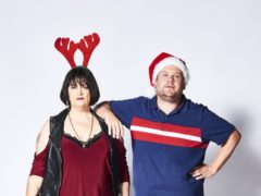 Ruth Jones as Nessa Jenkins and James Cordon as Neil 'Smithy' Smith in the Gavin And Stacey's Christmas special (Tom Jackson/BBC/PA)