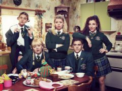 Derry Girls Orla (Louise Harland), Clare (Nicola Coughlan), Erin (Saoirse-Monica Jackson), James (Dylan Llewellyn) and Michelle (Jamie-Lee O'Donnell) (Hat Trick/Channel4/PA)