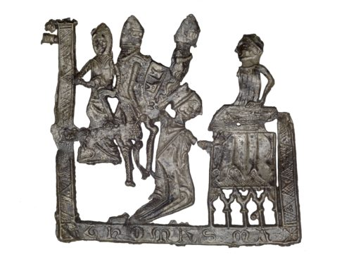 Pilgrim badge from the shrine of St Thomas Becket at Canterbury Cathedral (Museum Of London)