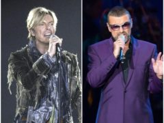 The biographies of David Bowie, left, and George Michael will appear in the Oxford Dictionary Of National Biography (PA)