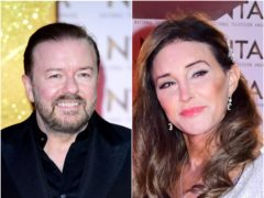 Ricky Gervais and Caitlyn Jenner (Ian West/PA)