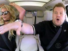 James Corden doing Carpool Karaoke with Britney Spears (CBS/PA)