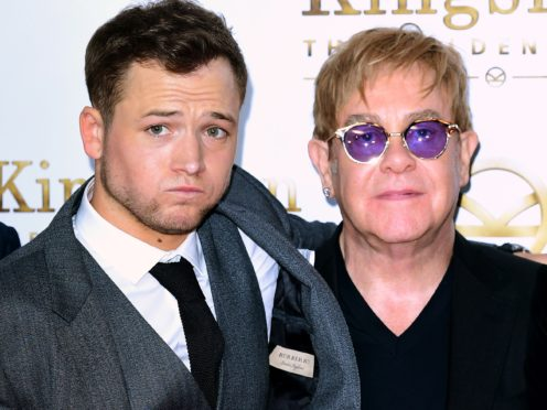 Taron Egerton and Sir Elton John (Ian West/PA)