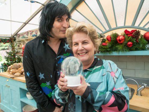 Noel Fielding shares sweet tribute to Sandi Toksvig as she quits Bake Off (C4/Love Productions/Mark Bourdillon)