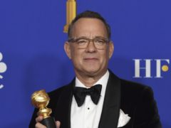 An emotional Tom Hanks reflected on his glittering career as he was honoured with a lifetime achievement award at the Golden Globes (AP Photo/Chris Pizzello)