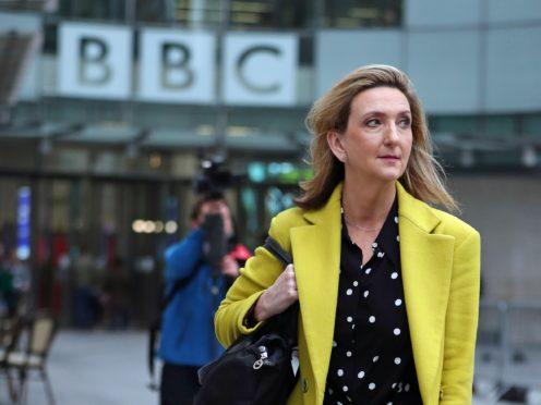 Presenter Victoria Derbyshire leaves BBC Broadcasting House (Yui Mok/PA)