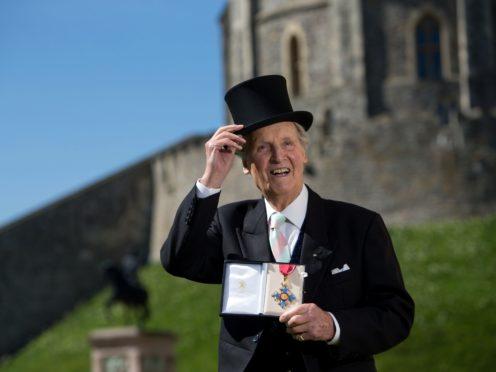 Nicholas Parsons with his CBE (Steve Parsons/PA)
