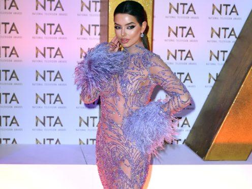 Maura Higgins at the National Television Awards (Ian West/PA)