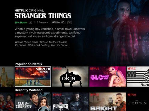 Stranger Things on Netflix (Netflix/PA)