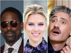 Sterling K. Brown, Scarlett Johansson and Taika Waititi (Jordan Strauss/AP/Ian West/David Parry/PA)