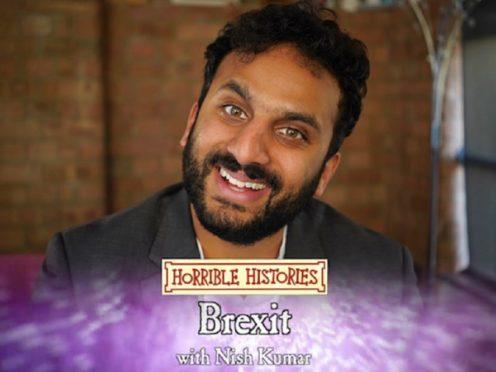 Nish Kumar presents the Brexit special (BBC)