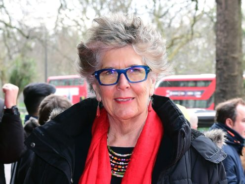 The Great British Bake Off judge Prue Leith has admitted to a 'slight feeling of panic' at turning 80 (Ian West/PA)