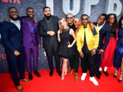 Dave Omoregle, Drake, Lisa Dwan, Shone Romulus, Ashley Walters, Micheal Ward and Little Simz attending the UK premiere of Top Boy at the Hackney Picturehouse in London (Ian West/PA)