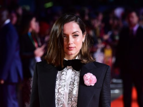 Ana de Armas stars in the new Bond film (Ian West/PA)