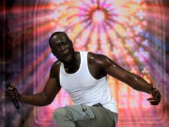Stormzy on stage (Isabel Infantes/PA)