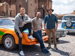 Top Gear hosts Freddie Flintoff, Chris Harris and Paddy McGuinness (Lee Brimble/BBC)