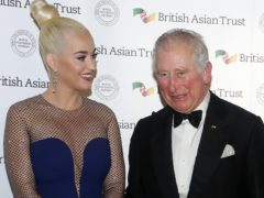 The Prince of Wales with musician Katy Perry (Katy Wigglesworth/PA)