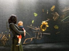 A visitor looks at an installation at the Meet Vincent Van Gogh Experience (Luciana Guerra/PA)