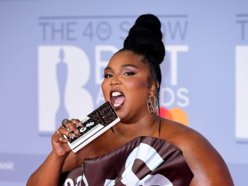 Lizzo arriving at the Brit Awards (Ian West/PA)