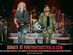 Queen at the bushfire concert in Australia (Jared Leibowitz/FireFight Australia)