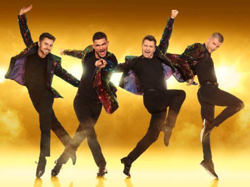 The Here Come The Boys tour starring Aljaz Skorjanec, Pasha Kovalev, Sam Salter and Michael Dameski (Here Come The Boys/Planet Earth/PA)