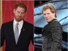 The Duke of Sussex will carry out an engagement with Jon Bon Jovi this week (PA)