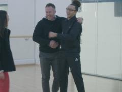 James Jordan joins Perri Kiely and Vanessa Bauer in the studio (ITV/Dancing On Ice/PA)