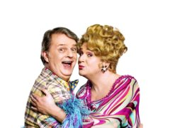 Paul Merton and Michael Ball in character in Hairspray The Musical (Hairspray)