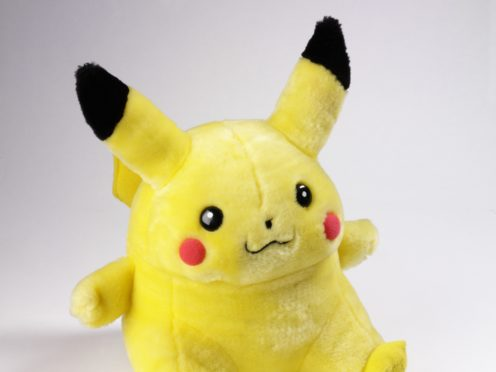 A Pikachu soft toy (Victoria & Albert Museum/PA)
